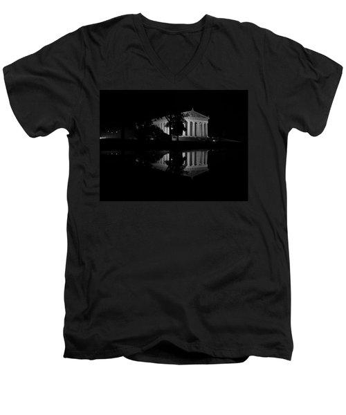 Parthenon Puddle Men's V-Neck T-Shirt
