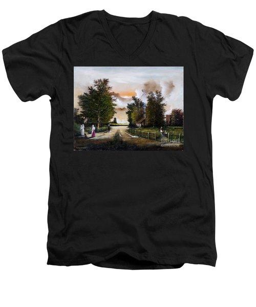 Passing The Time Men's V-Neck T-Shirt