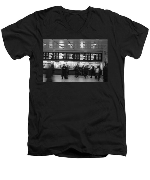 Penn Station Men's V-Neck T-Shirt by Steven Macanka