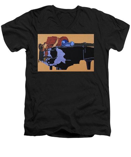 Piano And I Men's V-Neck T-Shirt
