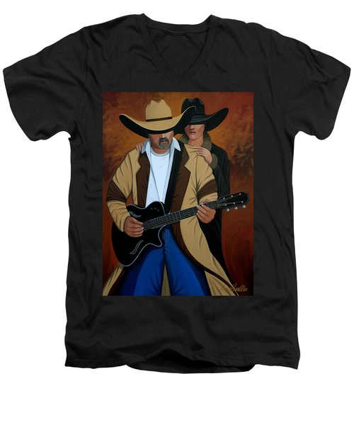 Play A Song For Me Men's V-Neck T-Shirt by Lance Headlee