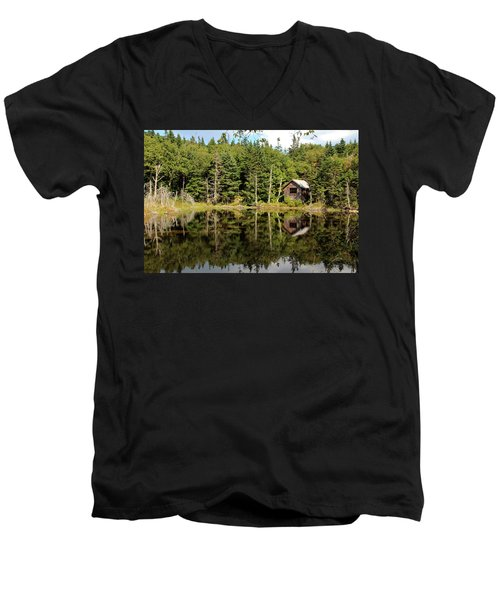 Pond Along The At Men's V-Neck T-Shirt