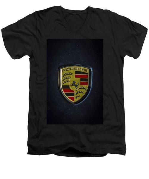 Porsche Logo Men's V-Neck T-Shirt
