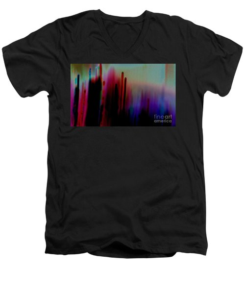 Men's V-Neck T-Shirt featuring the photograph Pulse by Jacqueline McReynolds