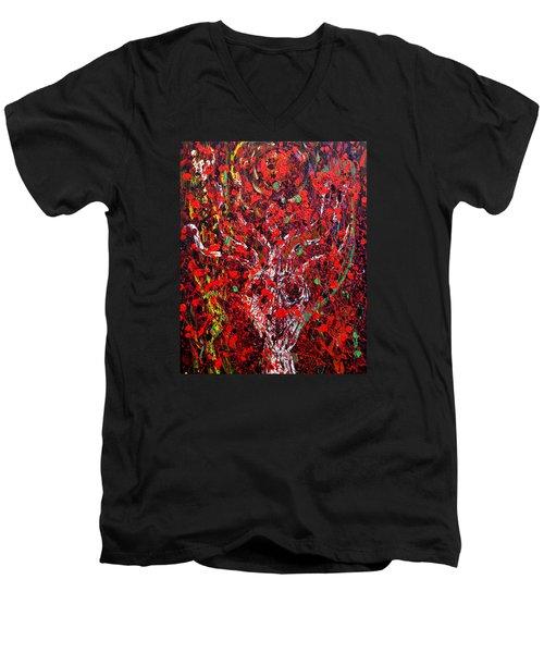 Recurring Face Men's V-Neck T-Shirt