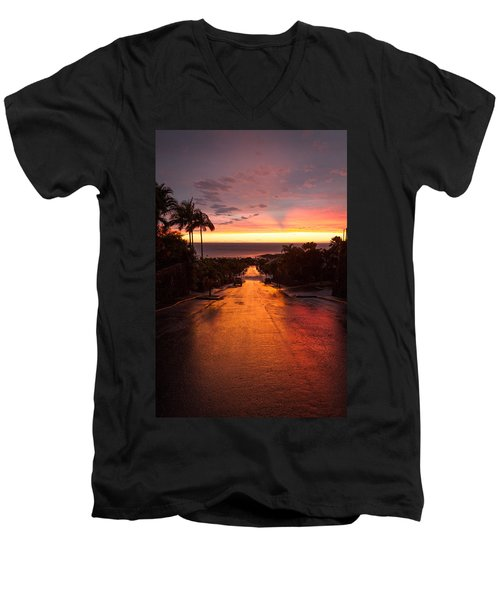 Sunset After Rain Men's V-Neck T-Shirt