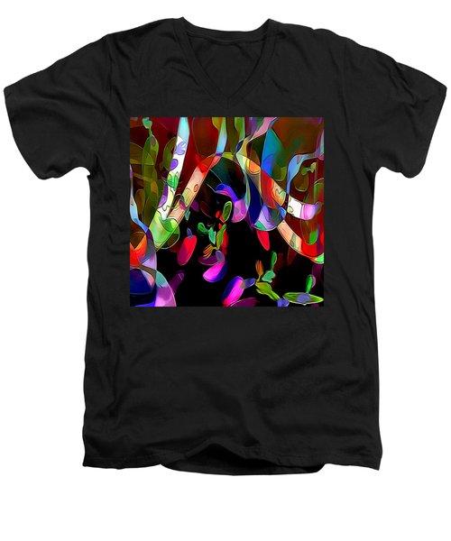 Rhythm Men's V-Neck T-Shirt by Julie Grace