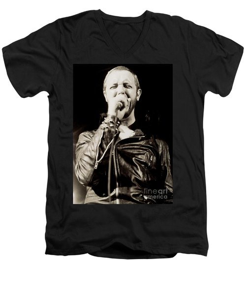Rob Halford Of Judas Priest At The Warfield Theater During British Steel Tour - Unreleased  Men's V-Neck T-Shirt