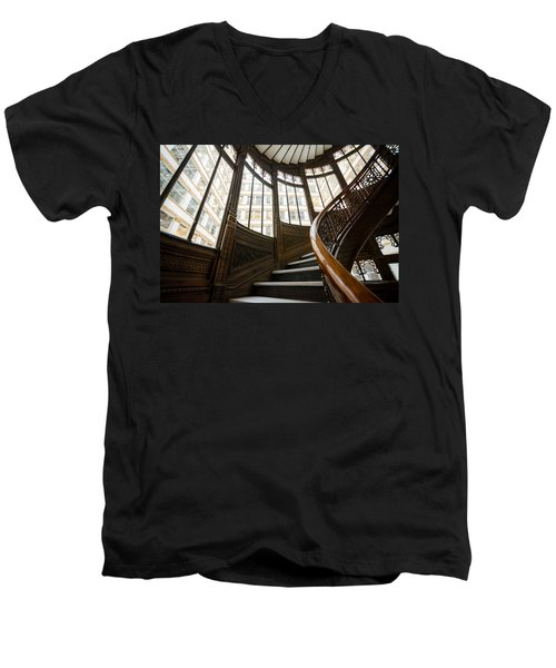 Rookery Building Up The Oriel Staircase Men's V-Neck T-Shirt