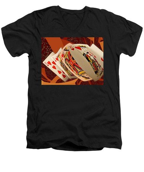 Royal Flush Men's V-Neck T-Shirt
