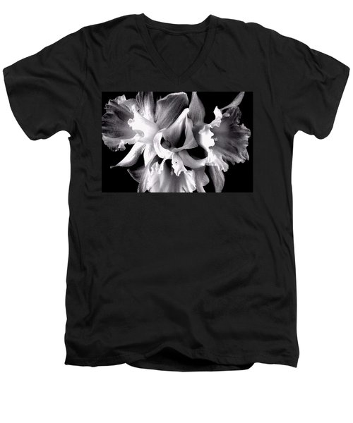 Ruffled Daffodils  Men's V-Neck T-Shirt by Marianne Dow