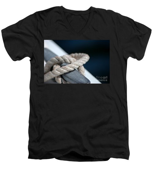 Men's V-Neck T-Shirt featuring the photograph Sail Away by Christiane Hellner-OBrien