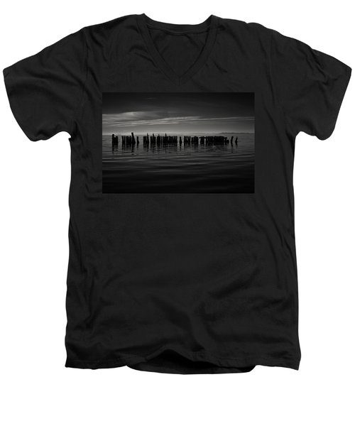 Salton Sea Piles Men's V-Neck T-Shirt