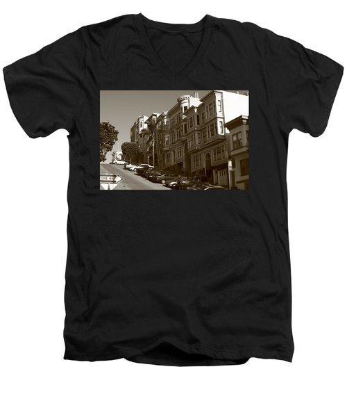 San Francisco Hills  Men's V-Neck T-Shirt
