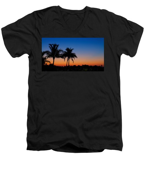 Sanibel Island Florida Sunset Men's V-Neck T-Shirt
