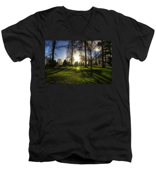 Short Days Long Shadows Men's V-Neck T-Shirt