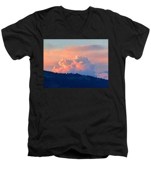 Soothing Sunset Men's V-Neck T-Shirt by Will Borden