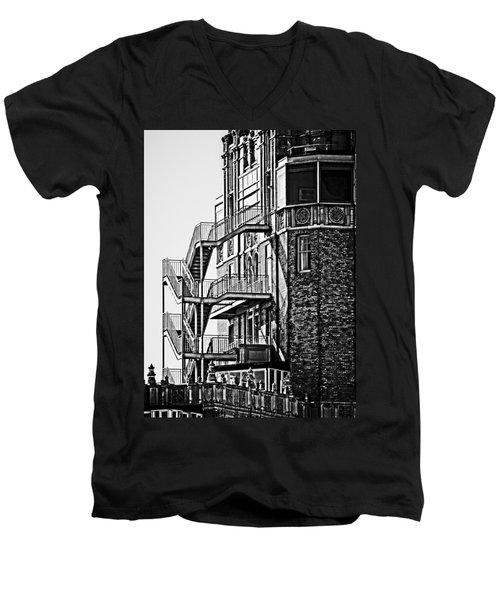 Stairs Men's V-Neck T-Shirt by Mark Alder