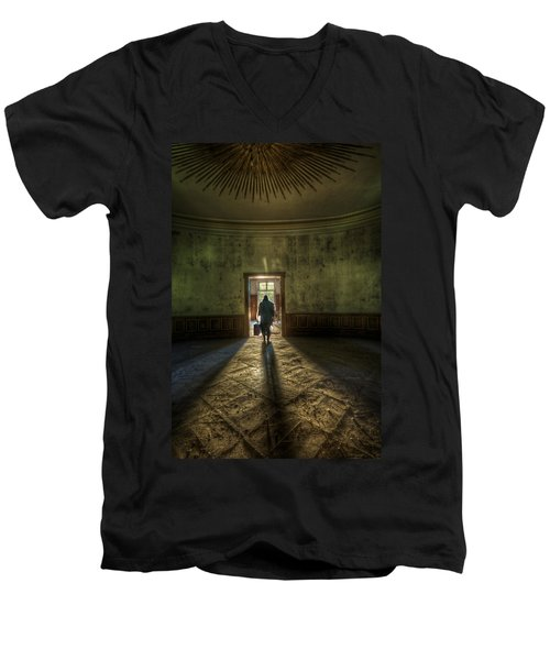 Step Into The Light Men's V-Neck T-Shirt by Nathan Wright