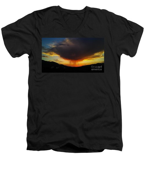 Men's V-Neck T-Shirt featuring the photograph Storms Coming by Chris Tarpening