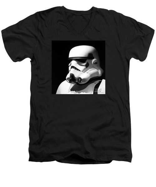 Men's V-Neck T-Shirt featuring the photograph Stormtrooper by Chris Thomas