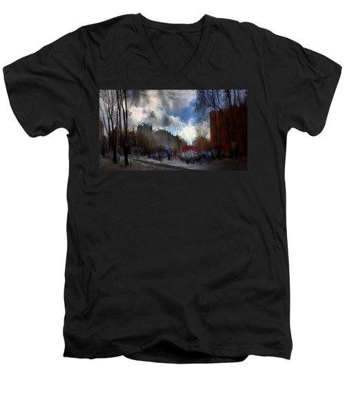 Streetlights 2 Men's V-Neck T-Shirt