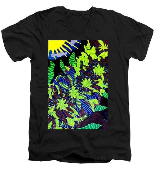 Summer Bloom Men's V-Neck T-Shirt by Jonathon Hansen