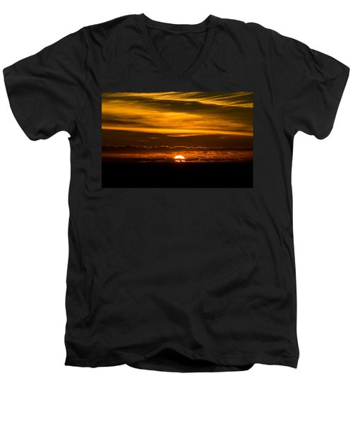 Sunset Clouds Men's V-Neck T-Shirt