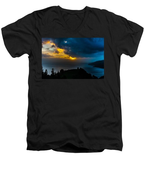 Sunset Over Blue Men's V-Neck T-Shirt