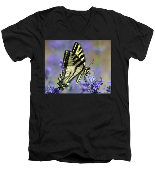 Swallowtail Butterfly Men's V-Neck T-Shirt by Jack Bell