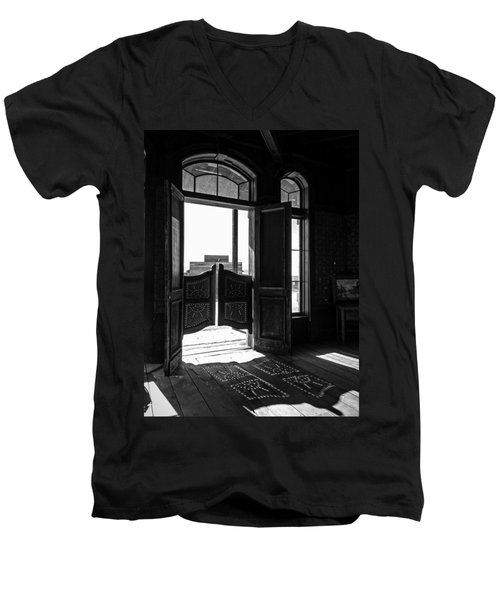 Swinging Doors Men's V-Neck T-Shirt by Lucinda Walter
