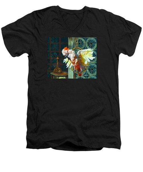 Tango The Moluccan Cockatoo  Men's V-Neck T-Shirt