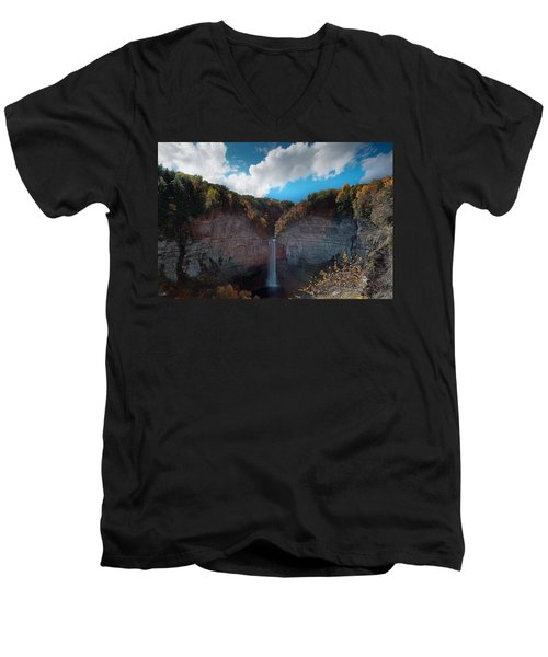Men's V-Neck T-Shirt featuring the photograph Taughannock Falls Ithaca New York by Paul Ge