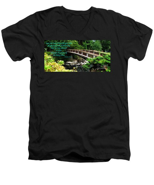 The Bible Romans 15 13 Men's V-Neck T-Shirt