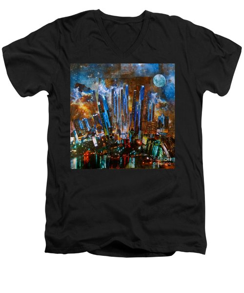The City Men's V-Neck T-Shirt