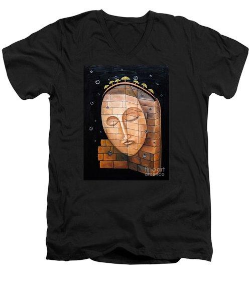 The Corner Men's V-Neck T-Shirt by Fei A