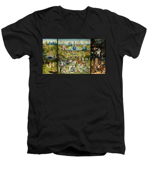The Garden Of Earthly Delights Men's V-Neck T-Shirt by Hieronymus Bosch