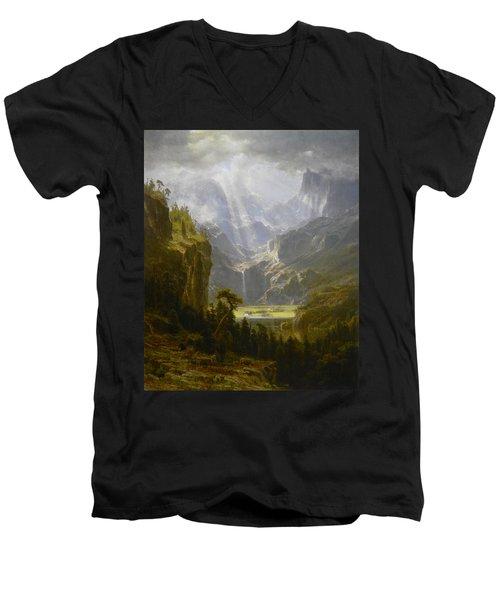 The Rocky Mountains Lander's Peak Men's V-Neck T-Shirt