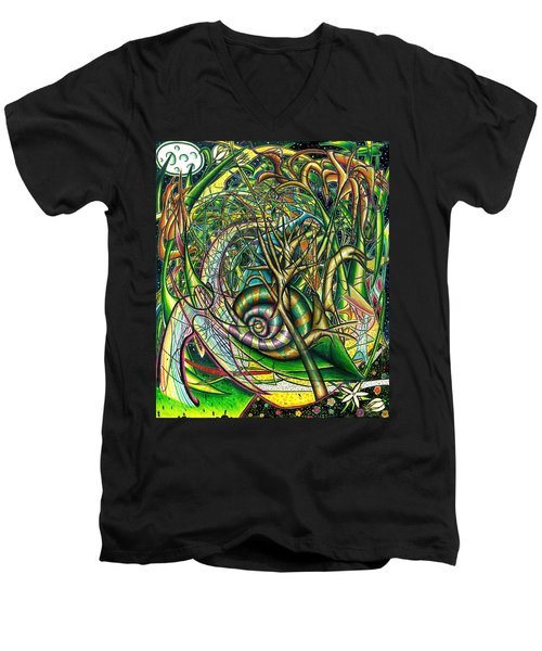 The Snail Men's V-Neck T-Shirt