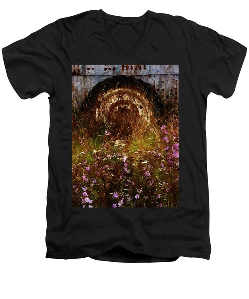 The Spare Wheel  Men's V-Neck T-Shirt by Steve Taylor