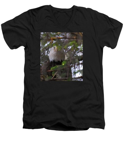 Men's V-Neck T-Shirt featuring the photograph The Watcher by Cynthia Lagoudakis