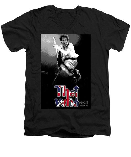 The Who Men's V-Neck T-Shirt by Doc Braham