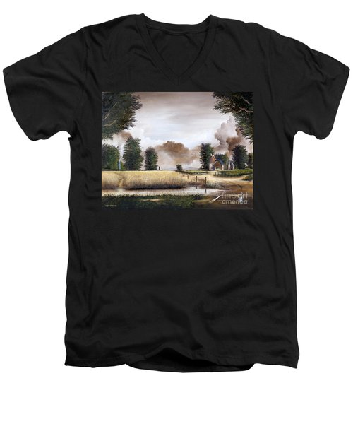 Through The Cornfield Men's V-Neck T-Shirt