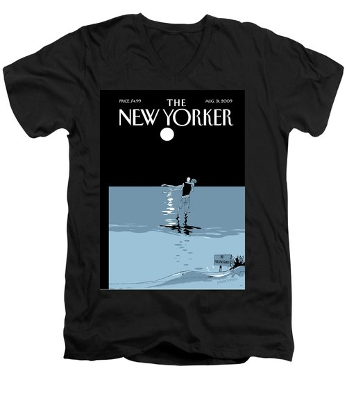 New Yorker August 31st, 2009 Men's V-Neck T-Shirt