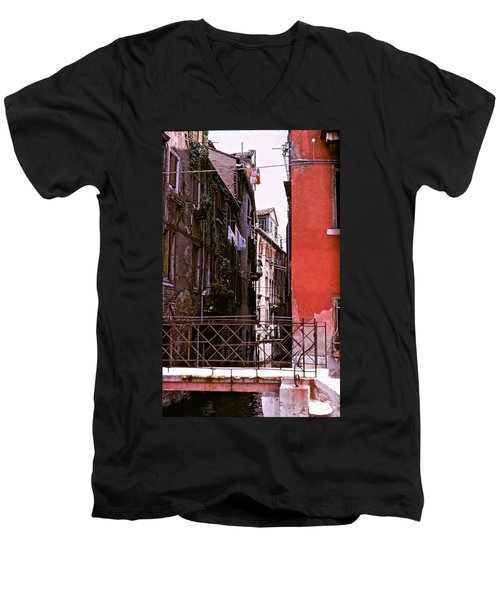 Men's V-Neck T-Shirt featuring the photograph Venice by Ira Shander