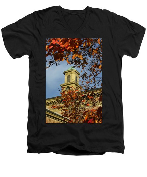 Men's V-Neck T-Shirt featuring the photograph William And Mary College by Jacqueline M Lewis