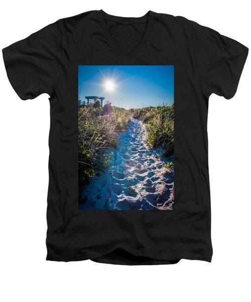 Wilmington Coastal Scene Wilmington North Carolina Men's V-Neck T-Shirt
