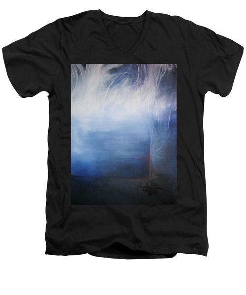 Men's V-Neck T-Shirt featuring the painting YOD by Carrie Maurer