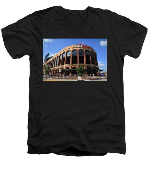 Citi Field - New York Mets 3 Men's V-Neck T-Shirt
