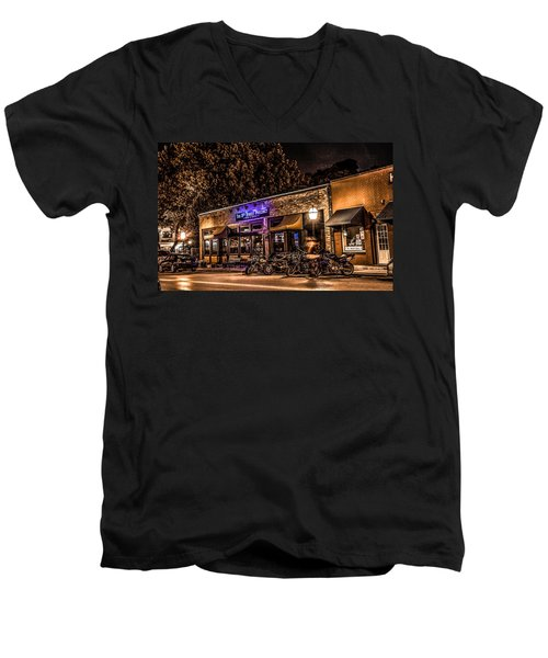 Men's V-Neck T-Shirt featuring the photograph 11th St. Precinct by Ray Congrove